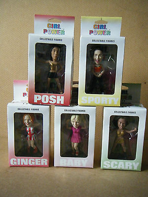 "Complete set of 5 ""SPICE GIRLS COLLECTABLE FIGURES"". Mint in original boxes."