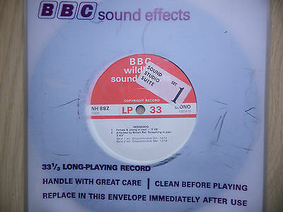 """BBC Sound Effects 7"""" Record - Hedgehogs"""