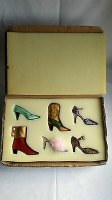 Boxed Ceramic Shoe Collection.