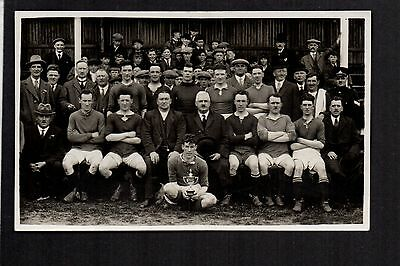 Rhyl F.C. - Football Team and Cup - real photographic postcard