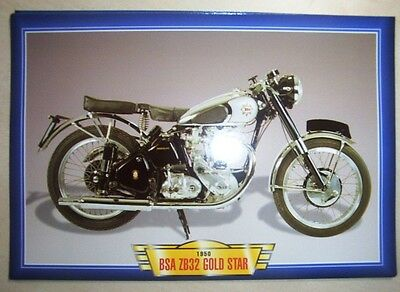 Bsa Zb32 Gold Star 350 Classic Vintage Motorcycle Bike 1950's Picture Print 1950