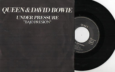 "QUEEN & DAVID BOWIE - Under Pressure / Soul Brother, SG 7"" SPAIN 1981 EX"