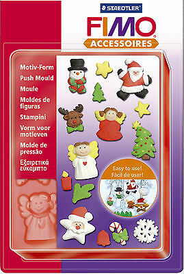 FIMO Sculpey Clay Push Moulds Christmas For Modelling Jewellery Craft Art Fun 06