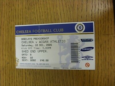 10/12/2005 Ticket: Chelsea v Wigan Athletic  . Thanks for viewing this item, we