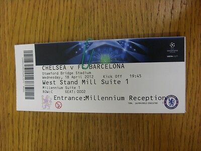 18/04/2012 Ticket: Chelsea v Barcelona [Champions League] . Thanks for viewing t