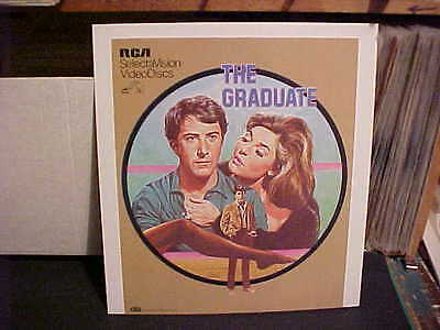 The Graduate With Dustin Hoffman Movie Art Videodisc Sales Promo Poster Board