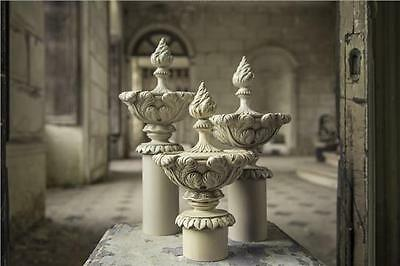 ORNATE designer FRENCH Laura Urn end Finial for curtain pole design by Ashley