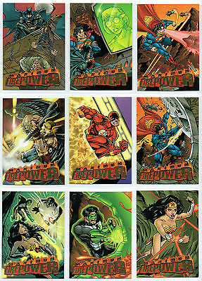 Dc Outburst: Complete Set Of 20 Firepower Embossed Cards