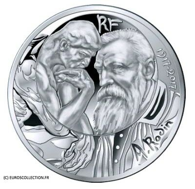 New Extraordinary Coin France 10 € Euro Silver Rodin 2017