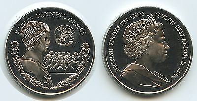 GS490 British Virgin Islands 1 Dollar 2004 KM#303 Athen Olympiade Elizabeth II.