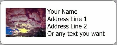 Awesome Sunset Clouds - 30 Photo Return Address Labels