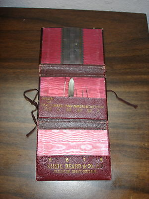 Victorian Leather Folding Advertising Needle Wallet By Kirby, Beard & Co