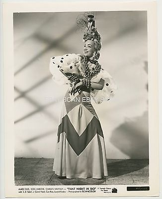 Carmen Miranda That Night In Rio Vintage Portrait Photo