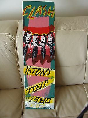 The Clash, 1980 16 Tons Tour Hand Painted Wood Poster