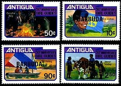 BARBUDA Sc.# 517-20 Girl Guides (Scouts) Stamps