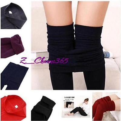 Pop Womens Ladies Winter Fleece Thermal Warm Stretchy Thick Full Length Leggings