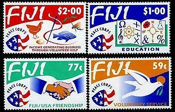 FIJI Sc.# 680-83 Peace Corps in Fiji Mint NH Stamps