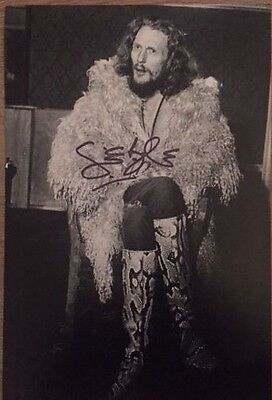 *signed*  Ginger Baker - 12X8 Photo  (Cream)  Autographed