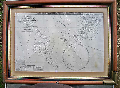 Carte HARBOURS AND ANCHORAGES IN THE BAHAMA ISLANDS Anthony de Mayne 1827