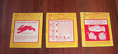 1950's or '60s Lipton Noodle Soup Side of Box Magic Tricks Advertising Premiums