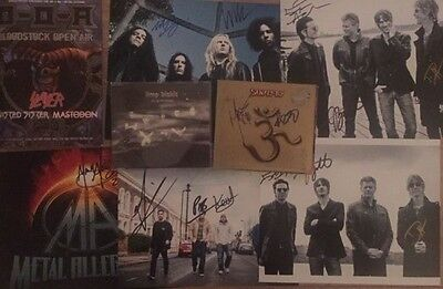 *signed*  Job Lot Of Rock Music Autographs - Photos And Cds