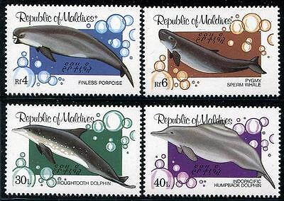 MALDIVES Sc.# 985-88 Whale, Dolphin, Porpoise Mint NH Stamps