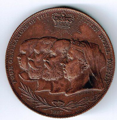 1897 Pearcys Pure Prepared Paint Toronto 4 Generations Of The Royal Family Token