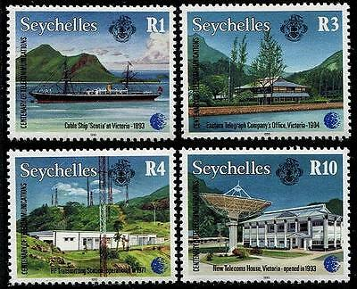 SEYCHELLES Sc.# 759-62 Telecommunications Mint NH Stamps