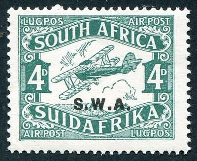 SOUTH WEST AFRICA Sc.# C1 4p Bluegreen NH Airmail Stamp