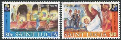 ST. LUCIA Sc.# 1245-46 Christmas 2007 Mint NH Stamps