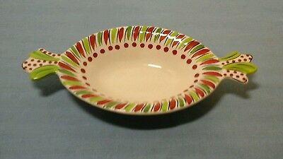 "M Bagwell Bowl Candy Shaped Red And Green 10"" Serving Platter"