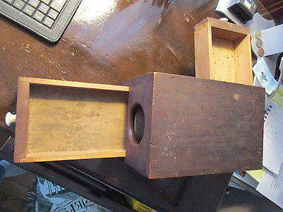 Antique Wood Masonic Lodge Voting Box Fraternal Secret Ballot w Drawer  (t)