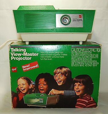 GAF Talking View-Master Projector w/ Box, Tested Working
