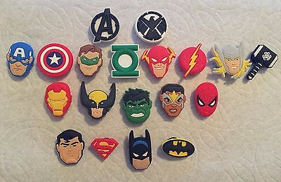 Avenger Shoe Charms Fits Crocs Super Hero Shoe Charms Thor Falcon Shoe Charms