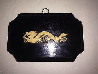 China Chinese Hand carved Dragon Homemade Plaque Unusual