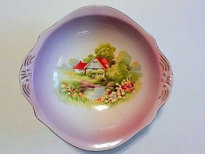 Royal Winton Grimwades Red Roof Handled Small Bowl with Cottage on a Stream