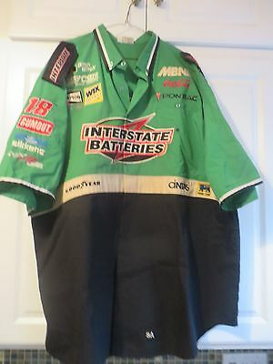Vintage NASCAR Interstate Batteries Team Crew Member Owned & Used Shirt