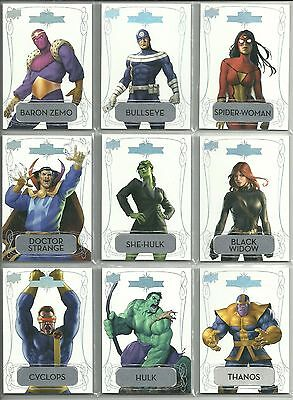 2016 Upper Deck Marvel Gems - Exquisite Metal Nameplate Parallel #ed. to 10