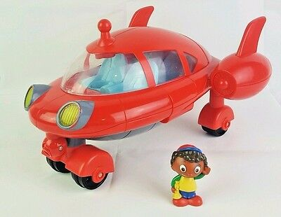 Disney Little Einsteins PAT PAT Red Rocket Ship Toy Lights Sounds With Figure!