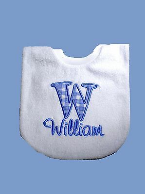 Personalised Baby Bib Embroidered GIFT Any name Christening Name Day  Twins