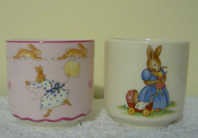Royal Doulton Bunnykins - Two China Egg Cups