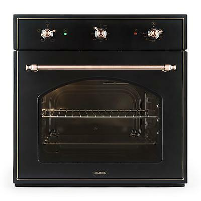 Klarstein Xl Kitchen Oven Hob Energy Class A 55 Litre 4 Slots Baking Grill Black