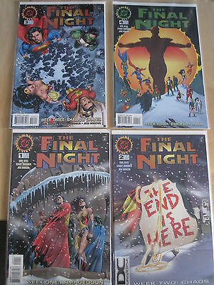 The FINAL NIGHT : COMPLETE 4 ISSUE SERIES by KESEL & IMMONEN. 1,2,3,4. DC.1996