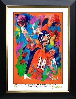 70% Sale Peyton Manning Fine-Art Print L Ed 77/99 Signed By Painter Winford