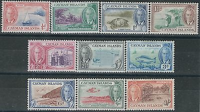 n034) Cayman Islands. 1950. MM SG 135 to144. Royalty. Mixed Topics, c£23+