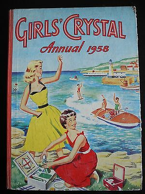 Girls' Crystal Annual 1958, Very Good Condition, Vintage, Unclipped