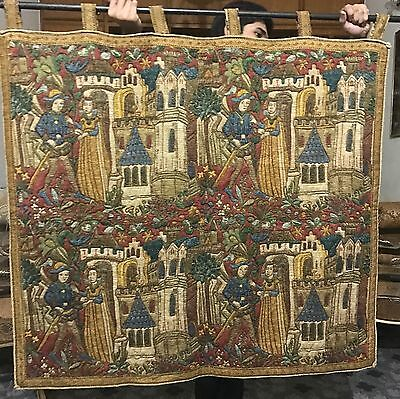 Antique print French Aubusson Style Tapestry 112 By115 Cm