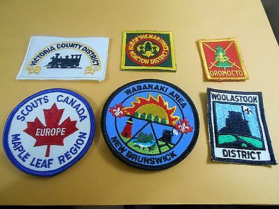 (Pu3-R) Six Listed  Canadian Scout Badges