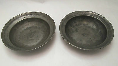 A Fine Pair of Pewter Bowls - 19th Century