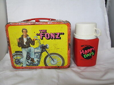 Rare Vintage 1976 THE FONZ - HAPPY DAYS  Lunchbox & Thermos